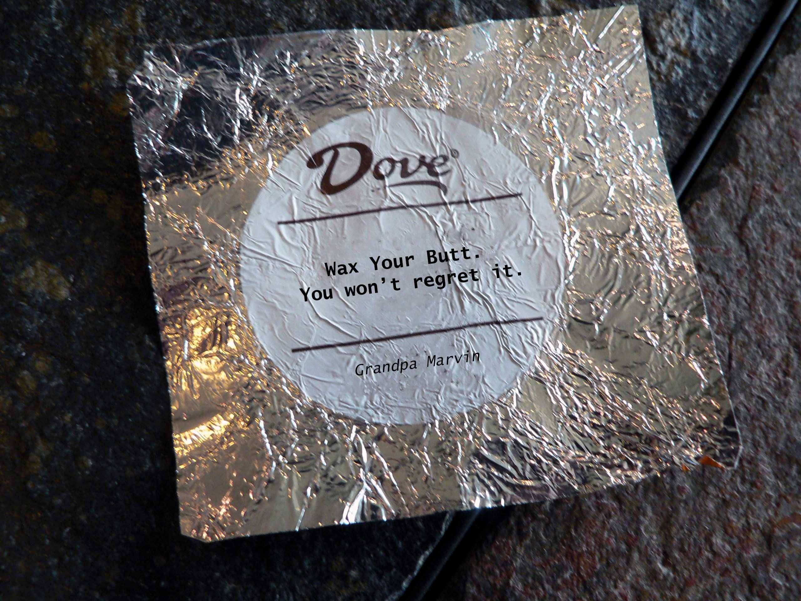 Fake Dove Chocolate Advice |
