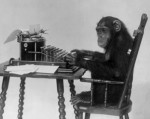 Psychology Department Conducting 'Chimps Play Typewriter/Shakespeare' Experiment