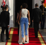 Michelle Obama Wears Pants